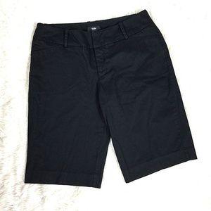 Mossimo Womens Shorts Black Stretch Cotton Blend